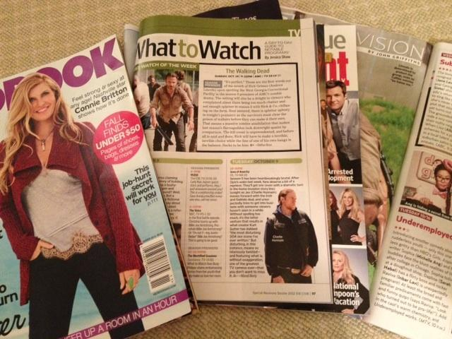 Magazines contribute to the viewer excitement of the new fall TV lineups. Hannah Godvin '13