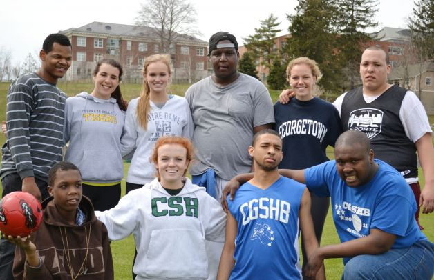 Seniors+Maddie+Pillari%2C+Liza+Connor%2C+Tessa+Davis%2C+and+Taylor+Ryan+were+organizers+and+also+volunteers+at+the+Special+Olympics+event+on+campus.%0ACourtesy+of+GreenwichTime