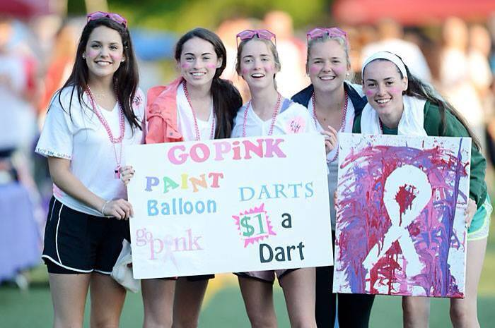 Seniors+Jacqueline+Thomas%2C+Colleen+O%27Neill+and+Mimi+Dunn+and+juniors+Meg+Gerli+and+Claire+O%27Neill+raise+money+for+the+American+Cancer+Society+at+Relay+for+Life.%0ACourtesy+of+Jacqueline+Thomas+%2714