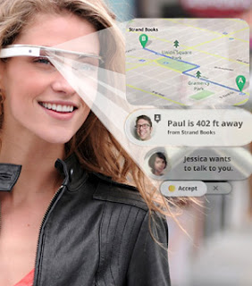 Some of Google Glasses' functions are to identify landmarks, check the weather, and call friends. courtesy of hightech-post.com