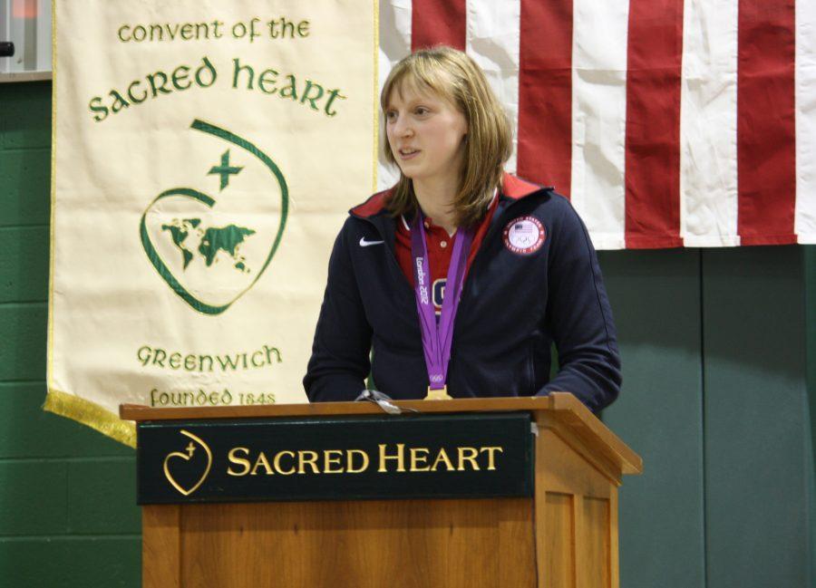 Katie Ledecky, freestyle gold medalist. courtesy of Alison Brett '13