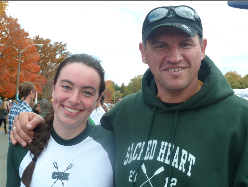 Margaret+Dunne+leads+the+Varsity%2C+JV+and+Novice+Crew+team+with+coach+Costel+Mutescu+and+co-captain+Lauren+Wood.%0Acourtesy+of+Margaret+Dunne+%2713