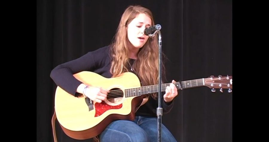Senior Whitney Rose Terry sang at the annual Community Service event Talent for Tots on Thursday, April 4. courtesy of Alison Brett '13