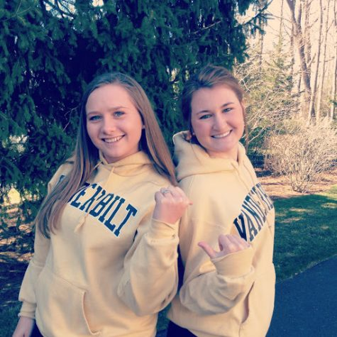 Seniors Maddy Hay and Frances McLaughlin will continue their friendship in college when they room together at Vanderbilt University. courtesy of Maddy Hay