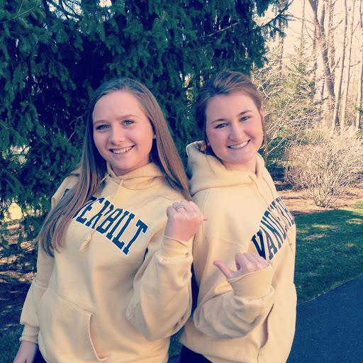 Seniors Maddy Hay and Frances McLaughlin will continue their friendship in college when they room together at Vanderbilt University. courtesy of Maddy Hay '13