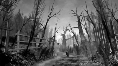 Eerie, dark forests are the settings of many horror movies and help set a spine-chilling tone. Courtesy of wallconvert.com