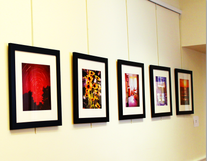 An array of Mr. Rotondo's photographs featured in the gallery. Izzy Sio '16
