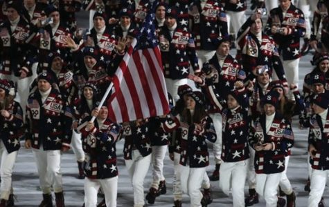 This is an image from the opening ceremony of the Sochi 2014 Winter Olympics. The United States Olympians are seen participating in this historic commemoration. Courtesy of google.com