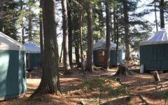 The Adirondack Semester at St. Lawrence college offers an opportunity for students to stay in electronic-free yurts for a semester to study nature and human relations with nature. Courtesy of stlawu.edu