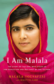 Malala Yousafzai aspires to improve girls' education in her bestselling book, I Am Malala. Photo courtesy of Time Magazine