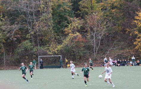 Both Greenwich Academy and Sacred Heart teams fought hard throughout the entirety of the game and showcased their soccer skills. Grace Isford '15