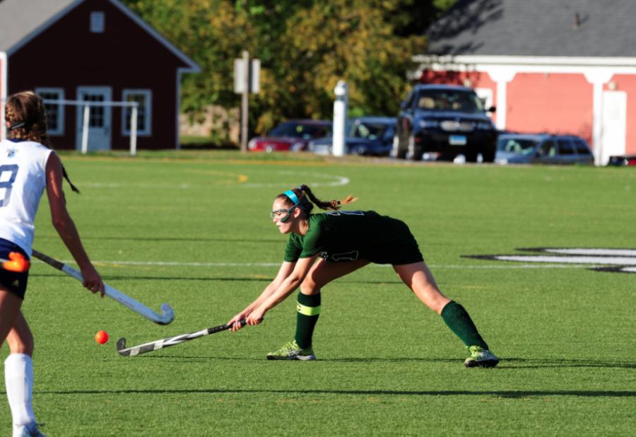 Field+hockey+captain%2C+senior+Maureen+Leitner%2C+sweeps+the+ball+up+the+field+during+a+home+game+against+Choate+Rosemary+Hall+September+25.%0ACourtesy+of+Rose+Leitner