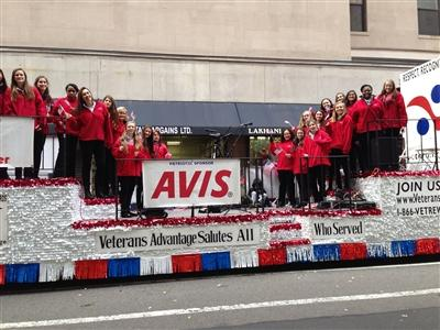 The Upper School Madrigals about to perform at the Veteran's Day Parade in New York City. Courtesy of Mrs. Lori Wilson