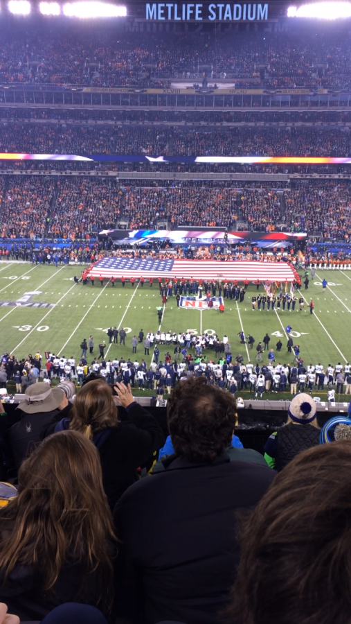 The Denver Broncos and Seattle Seahawks playing at MetLife Stadium in NJ Courtesy of Megan Winkhaus '14