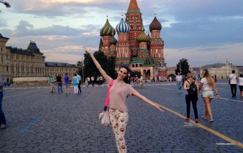 In addition to ballet training, Olivia spent a significant portion of her time in Moscow immersing herself in the Russian culture, such visiting St. Basil's Cathedral. Courtesy of Olivia Thurman '16