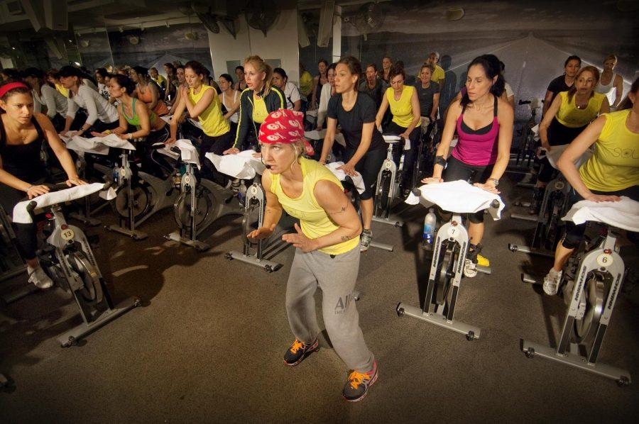 Instructor+Stacey+Griffith+motivates+cyclers+throughout+the+45+minute+class.%0ACourtesy+of+Soul+Cycle