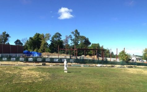 Convent of the Sacred Heart's construction schedule is progressing in time for the beginning of the 2015-2016 school year. Priscilla Valdez '15