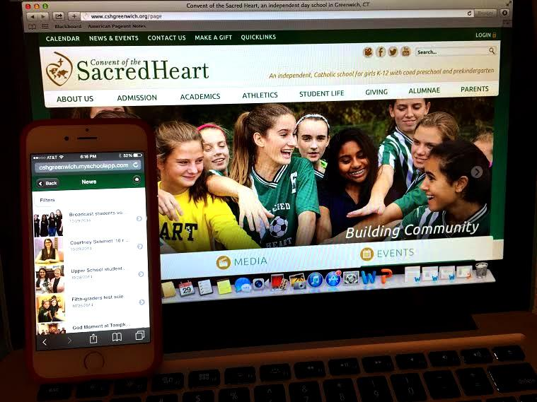 Sacred+Heart%27s+new+website%2C+viewed+from+a+laptop+and+iPhone.++Alana+Galloway+%2716