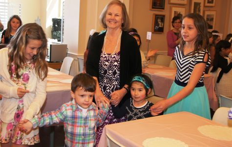 The lower school held a tea party April 17 to honor Dr. Ann Marr's 12 years as Head of Lower School. Courtesy of Mrs.Kristen Walmsley, Second Grade Homeroom Teacher