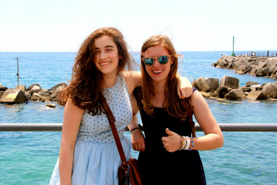 Mary Grace Henry and Miranda Falk spending time together on vacation. Courtesy of Mary Grace Henry '15