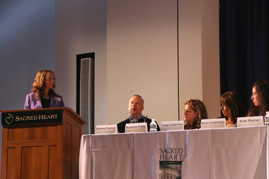 Panelist+Mr.+Andrew+Freirich+speaking+to+the+audience.++Courtesy+of+Ms.+Rachel+Zurheide