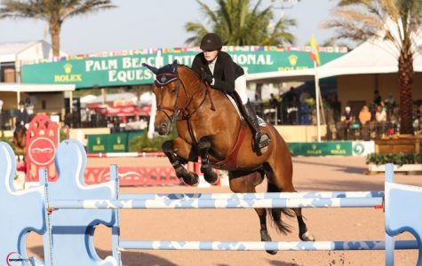 Grace Powers '15 competing at the Winter Equestrian Festival in Wellington, Florida.