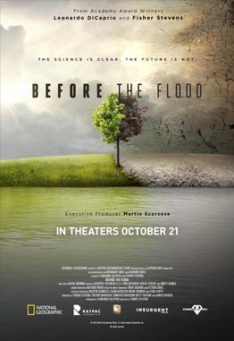 Before the Flood promotional release poster, courtesy of Wikipedia.com