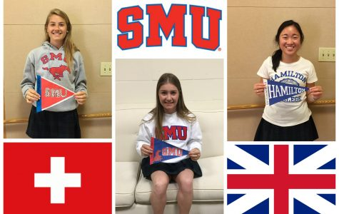 Seniors Maddie Church, Annie Werdinger and Molly Geisinger will be studying abroad in Europe during their freshman year of college. Holly Roth '16
