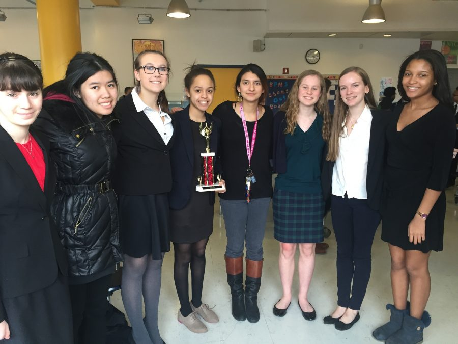 Members of the Speech and Debate team compete at the January event. Courtesy of Arielle Kirven '17