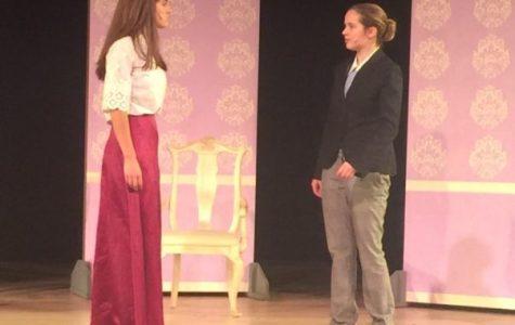 Elizabeth performing in Sacred Heart's production of Pygmalion. Elizabeth Bachmann '17