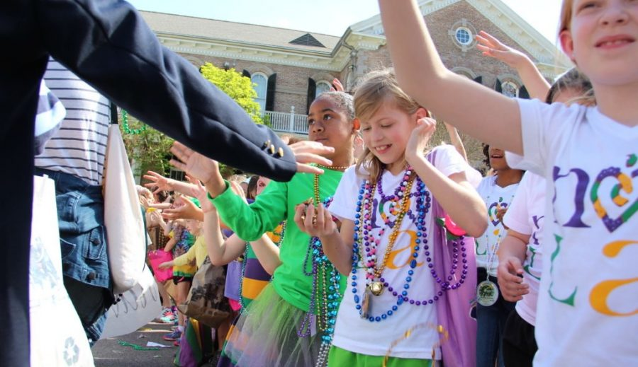Celebrating in the land of Mardi Gras