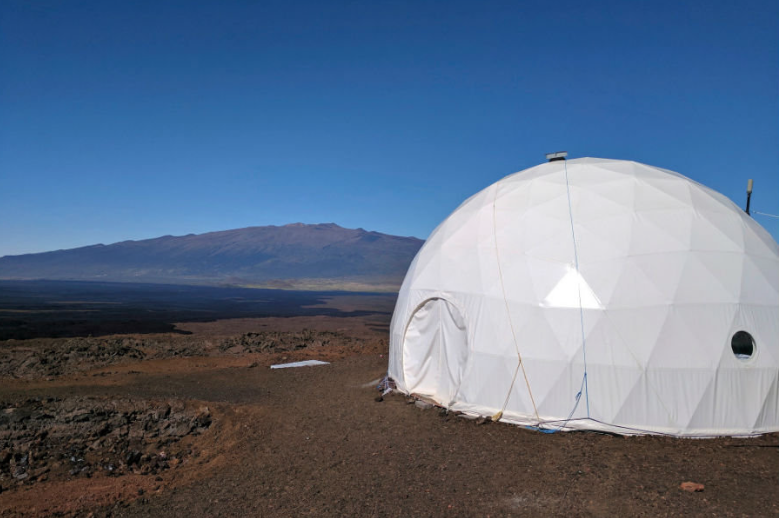 While simulating life on Mars, the six participants will reside in a geodesic dome for eight months. Courtesy of hawaii.edu.
