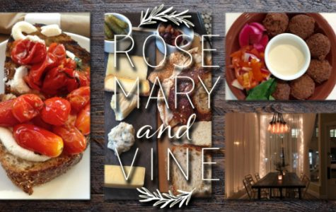 Rosemary and Vine is a vegetarian Mediterranean restaurant with a variety of small