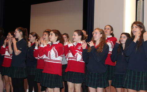 Convent of the Sacred Heart seniors sing and dance to the famous Christmas carol