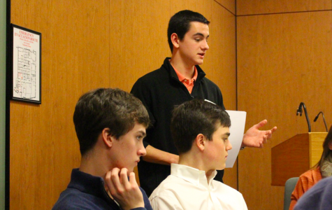 Greenwich High School junior Peter Negrea discusses the plan for Safe Rides March 6 with the First Selectman's Youth Commision. Courtesy of greenwichfreepress.com