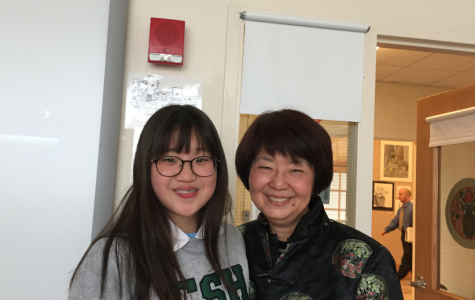 Taiwanese exchange student Miranda Chang with Upper School Chinese Teacher Mrs. Joanne Havemeyer.
