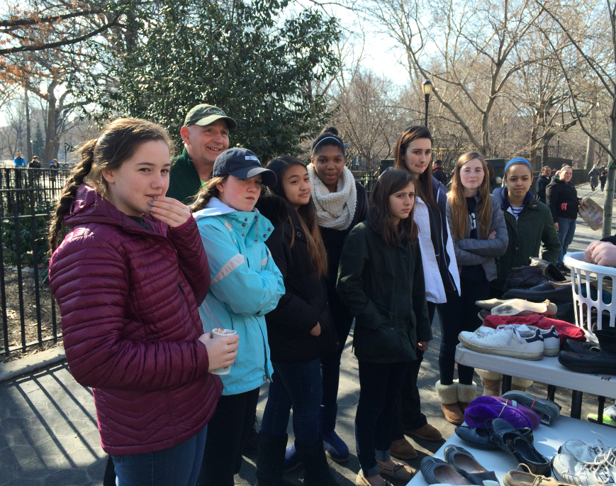 Mr. Robert Allison takes students on a breakfast run to Tompkins Square Park. Courtesy of Mrs. Lori Wilson