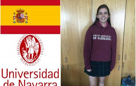 Senior Victoria Paternina will be attending the University of Navarra in Pamplona, Spain. - Holly Roth '16