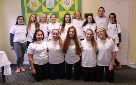 Convent of the Sacred Heart students Kirsten Parkinson, Daisy Flores, and Katherine Nail volunteered alongside Greenwich High School students at the November 1 Positively More workshop. Courtesy of Katherine Nail '16
