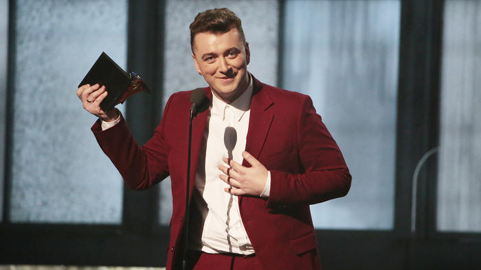 Sam+Smith+accepts+%22Best+New+Artist%22+award+at+the+2015+Grammy+Awards.+Smith+later+went+on+to+accept+the+%22Record+of+the+Year%2C%22+%22Song+of+the+Year%22+and+%22Best+Pop+Vocal+Album%22+awards+for+his+hit+track%2C+%22Stay+With+Me.%22+Courtesy+of+latimes.com.++