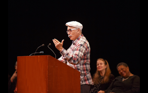 Academy of American Poets Chancellor and Poet Laureate Mr. Juan Felipe Herrera reads in honor of National Poetry Month. Courtesy of poetry.org.