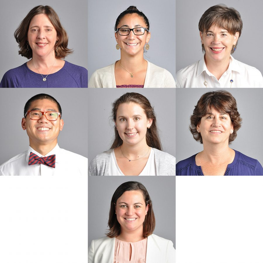 Convent of the Sacred Heart welcomes new members to the faculty Ms. Angela Cartensen, Mrs. Jillian Bozzi, Mrs. Maureen Considine, Mr. Brian Mao, Ms. Corinne Grady, Mrs. Marcie McDonals, and Mrs. Janelle O'Neill (from left to right). Nadia Zuaiter '17