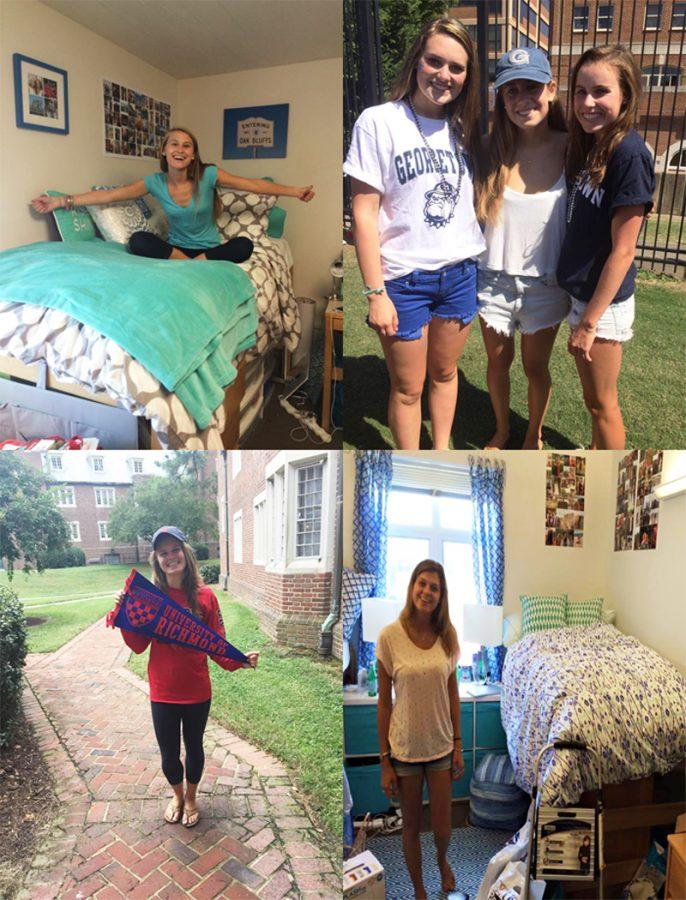 The 2014-2015 King Street Chronicle senior editorial board relishes in their first few weeks at college. Morgan Johnson '17