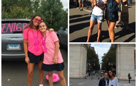 Tyla Comino from Kincoppal Rose Bay, School of the Sacred Heart in Australia tours New York City and participates in Senior Day with hostess, Alessia Barcelo. Grace Mather '17