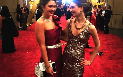 Senior Aggie Ryan walks the red carpet at the 88th annual Academy Awards with her sister Wilhelmina Ryan. Courtesy of Aggie Ryan '16