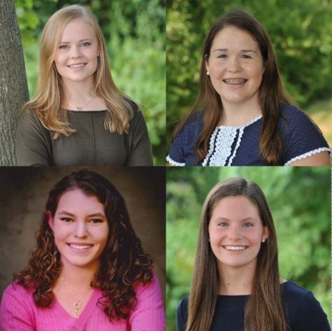 Convent of the Sacred Heart seniors, Lydia Currie, Lizzie Considine, Gracie Smith and Erin Schick plan on continuing their STEM education in college. Maddie Squire