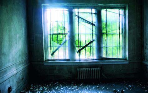 A landscape photo of an abandoned house from Ms. Filmore's personal project,