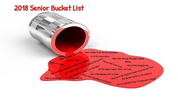 Senior Bucket List: Class of 2018