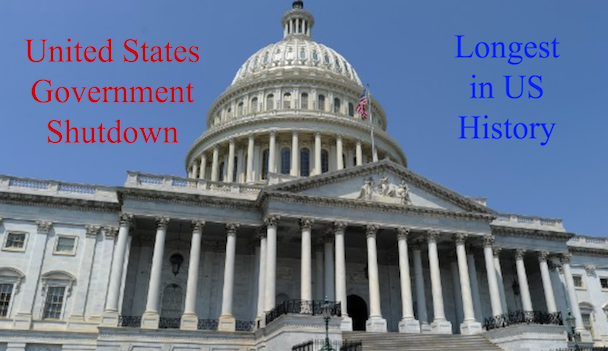 The 2018-2019 Government shutdown is the longest in United States history