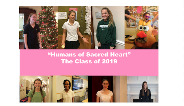 """""""Humans of Sacred Heart"""" the Class of 2019 over the years"""